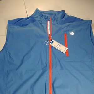 Southern Tide T3 Men's Golf Vest Blue